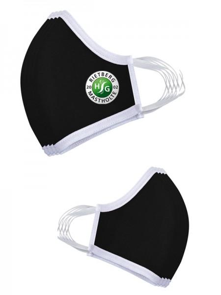 Premium Mund-Nasen-Maske schwarz