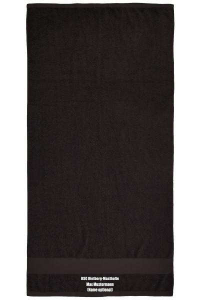 Badehandtuch 70 x 140 cm schwarz inkl. HSG-Stick