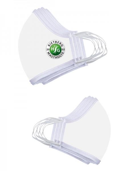 Premium Mund-Nasen-Maske weiß